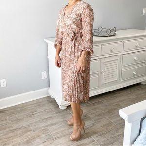 June & Hudson Gorgeous Snake Long Sleeves Dress, S